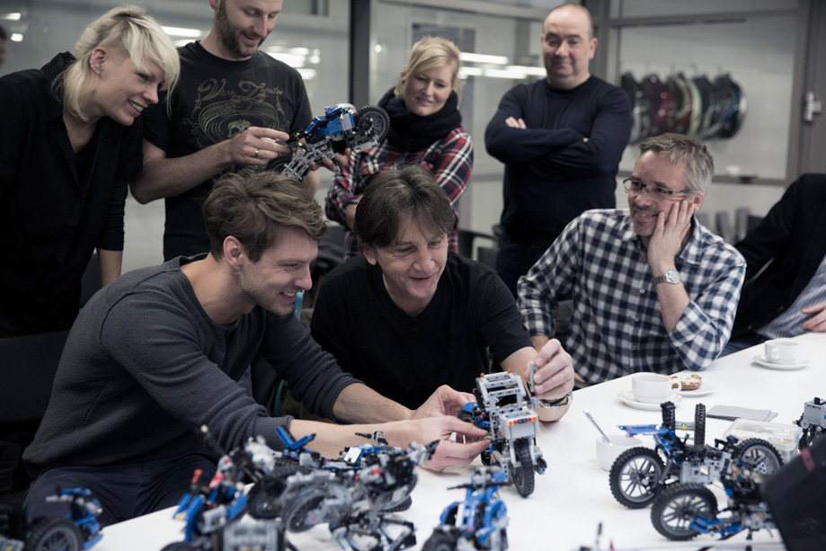 bmw and lego collaboration results in life-size hover bike concept