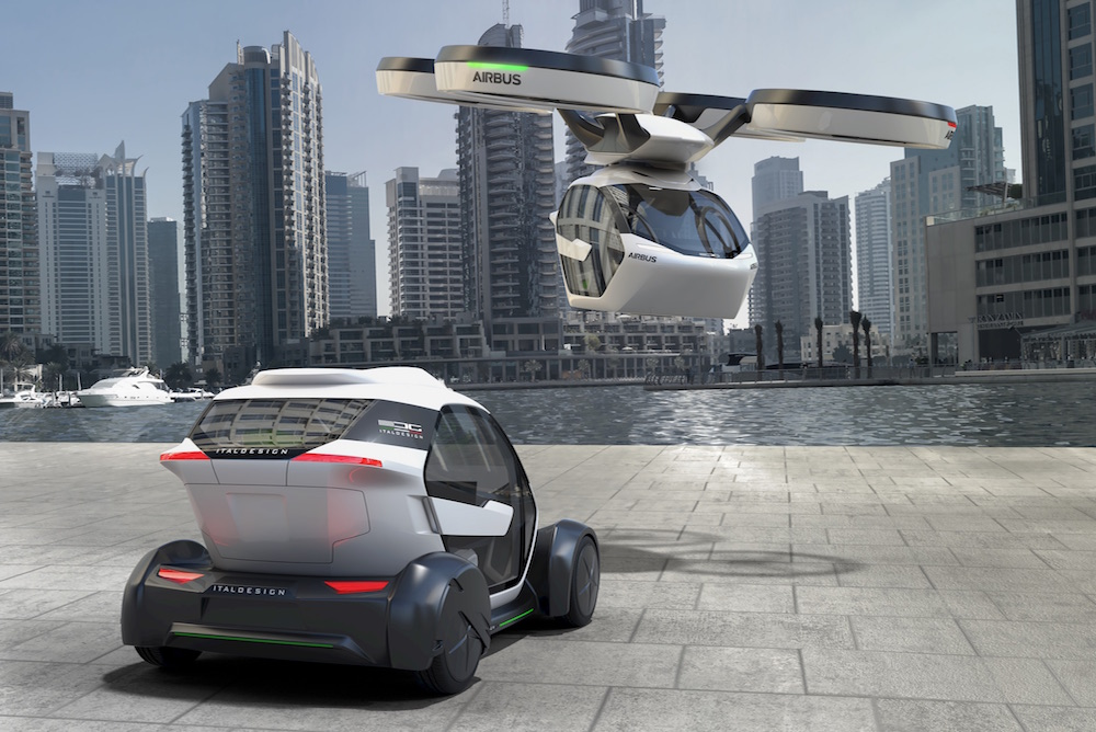Airbus Envisions The Future Of Mobility With A Car Drone And Train All In One