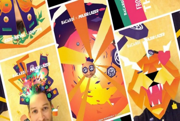 Bacardi's Major Lazer Snapchat Lens Lets People Star In Their Own Music Video