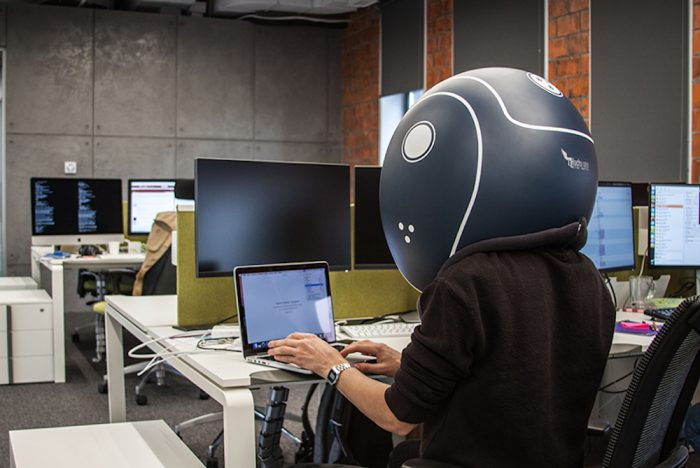 This Isolation Helmet Is Meant To Help Office Workers Be More Productive