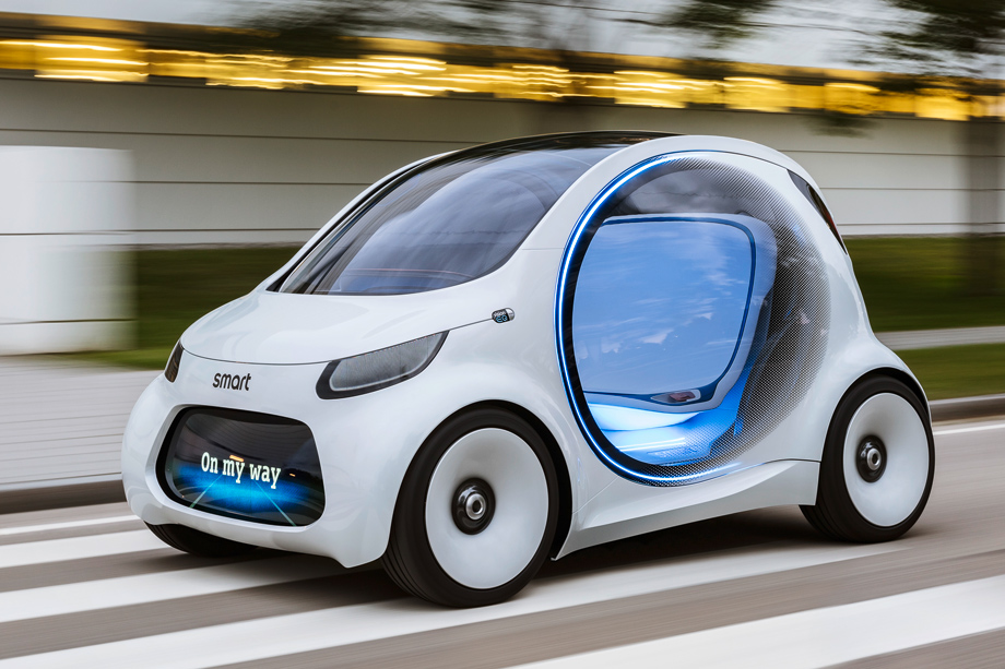 smart 39 s autonomous concept car can be used without a. Black Bedroom Furniture Sets. Home Design Ideas
