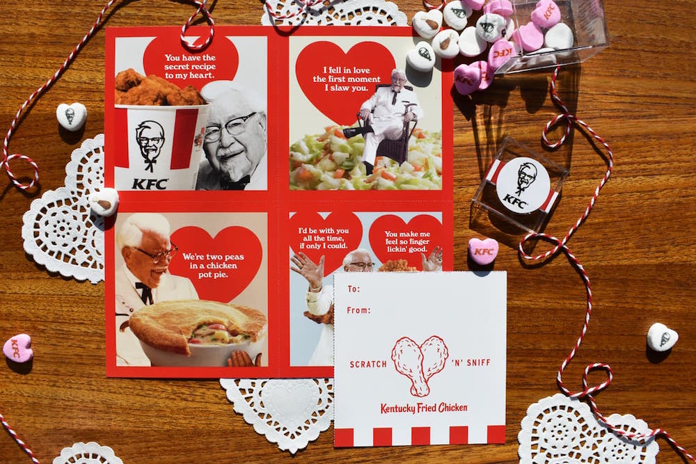 Kfc Shares The Love With Fried Chicken Scented Valentines